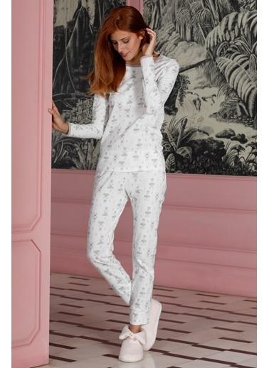 Hays Family Kadın Penye 2Li Pijama Takımı Yeşil